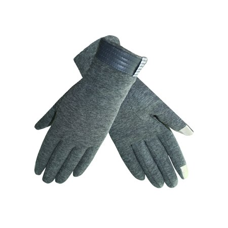 Womens Cotton Texting Gloves With Houndstooth (Women Cotton Gloves)