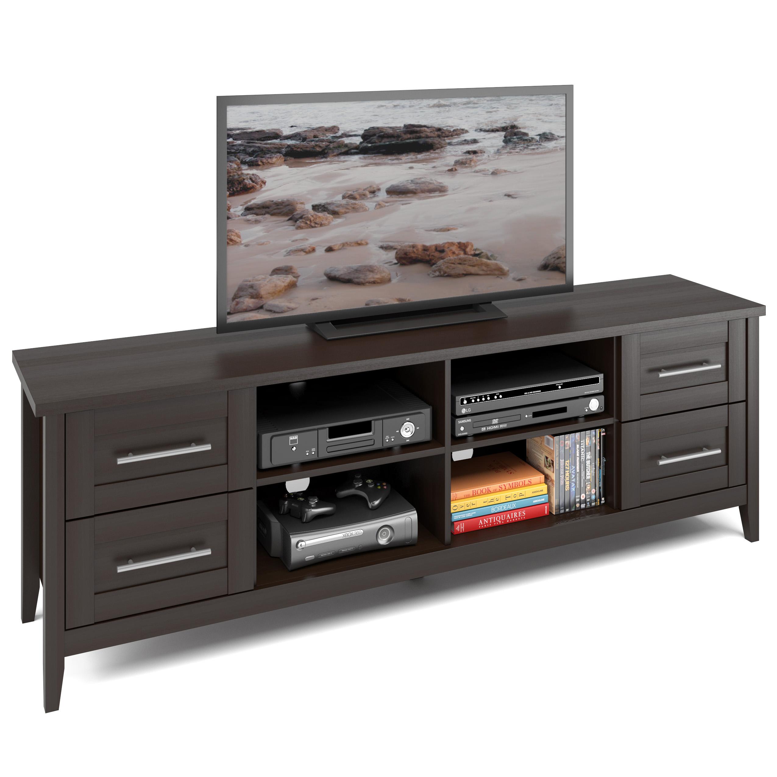 "CorLiving Jackson Espresso 4-Drawer TV Bench for TVs up to 80"""