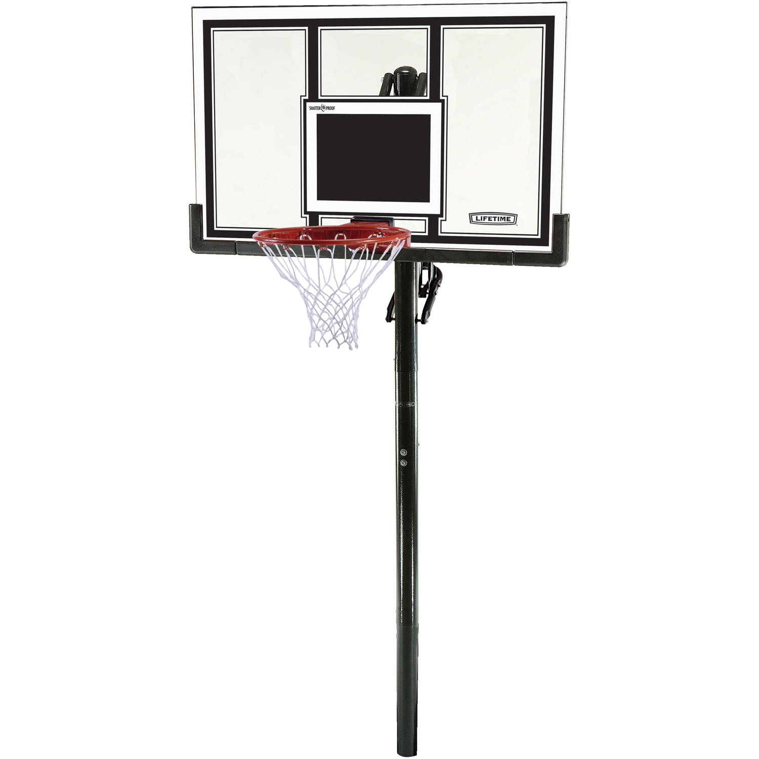 "Lifetime 54"" Shatterproof In-Ground Infinite Height Adjustable Basketball System, 71525"