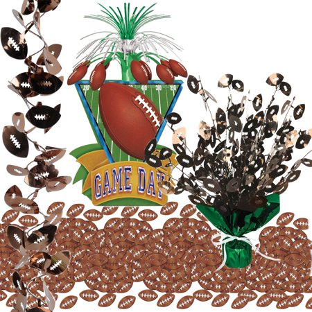 Football Party Supplies Table Pack With Centerpieces, Garland, Confetti](Sport Centerpieces)