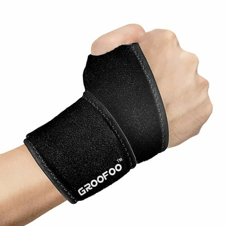 Thumb Loop Wrist Support - Adjustable Wrist Wrap Support with Thumb Loop to Protect Weak Wrist, Fit Left & Right Hand for Men & Women, 1/Pack