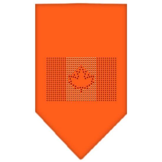 Canadian Flag Rhinestone Bandana Lime Green Large