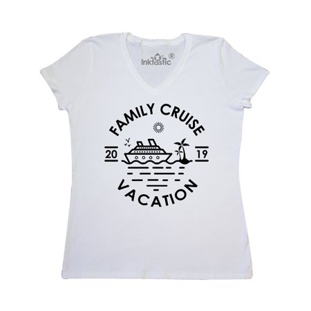 Family Cruise Vacation 2019 Women's V-Neck