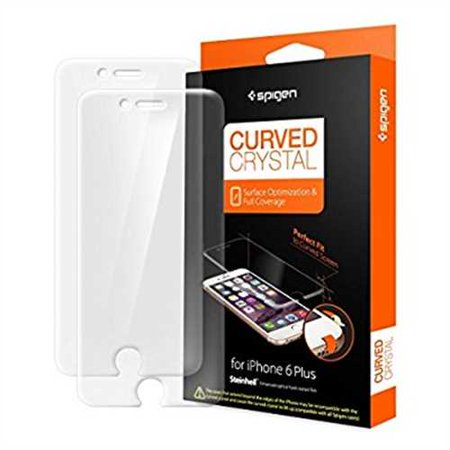 detailed look 31678 83bdd Spigen Curved Crystal iPhone 6 plus Screen Protector with Ultra Clear Film  for iPhone 6 plus