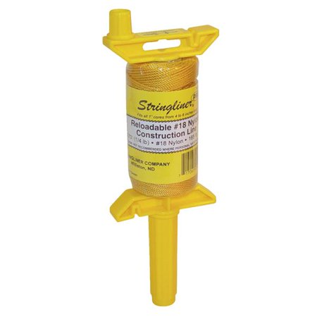 Gamma Nylon Reel (Stringliner 25100 1/4 Lb Twisted Gold Nylon Pro Reel Reloadable Construction Lin )