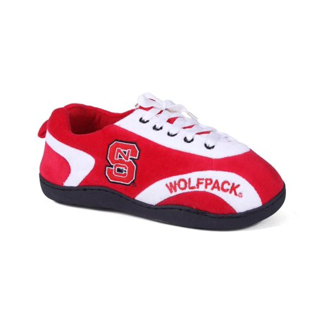 Happy Feet Mens & Womens North Carolina State Wolf Pack All Around Slippers - - Wolf Feet