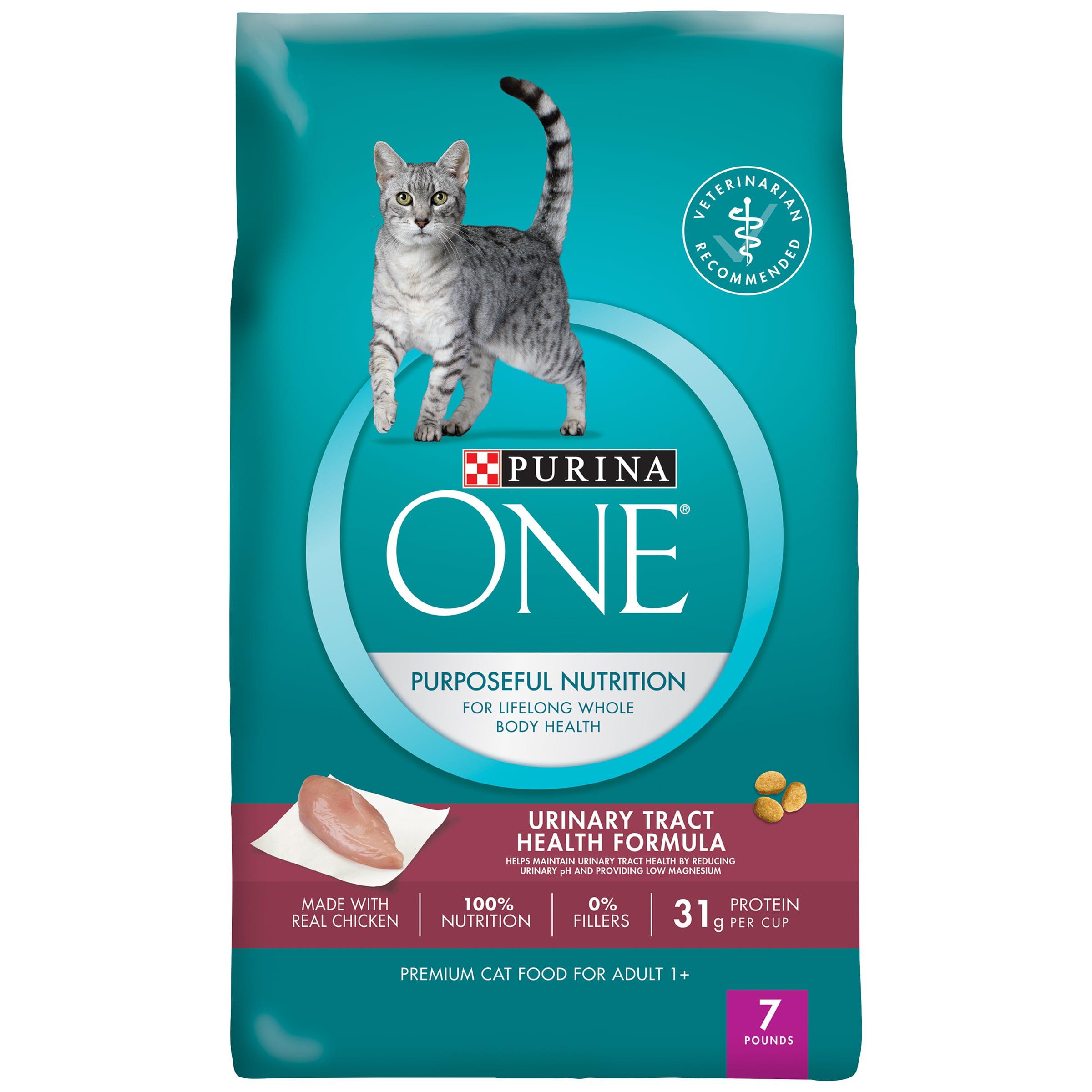 Purina ONE Urinary Tract Health Formula Adult Premium Cat Food 7 lb ...