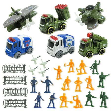 LeKing Équipe spéciale artillerie inertielle missile voiture éjection avion homme manette de jeu jouet 31 ensembles - image 8 de 9