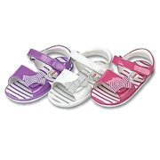 Baby Toddler Girls Shoes Patent Striped Bow Summer Sandals 1-7