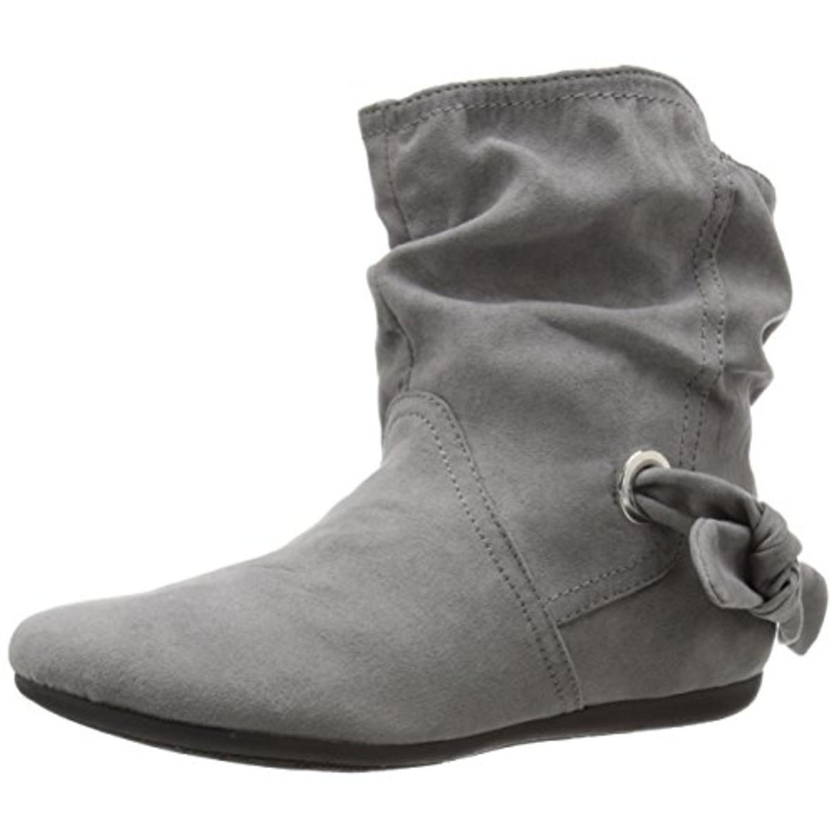 Report Womens Ezriel Faux Suede Ankle Casual Boots