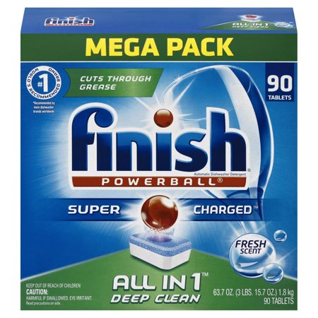 finish all in 1 powerball fresh 85 tabs dishwasher detergent tablets packaging may