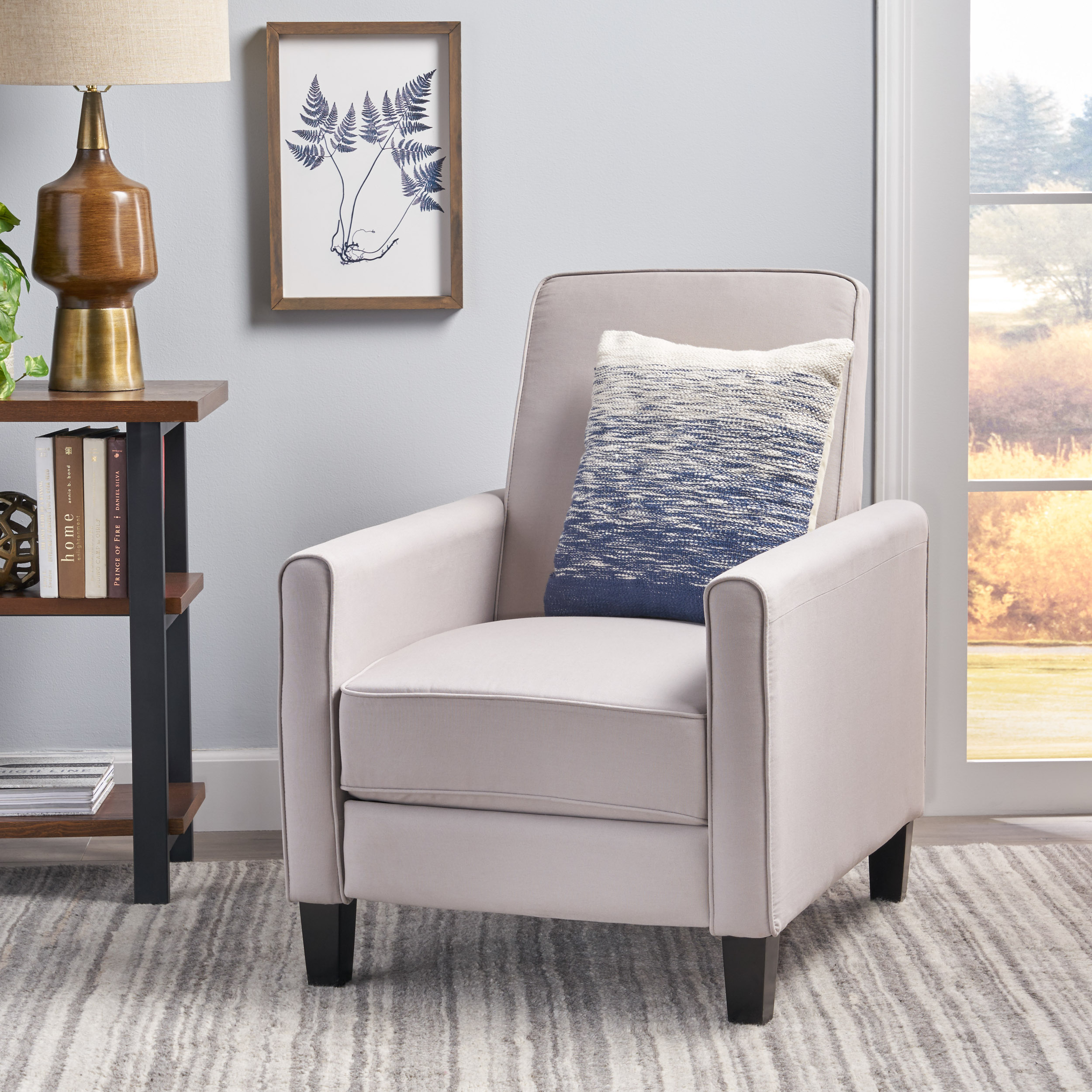 Noble House Bryce Grey Recliner Club Chair - Walmart.com ...