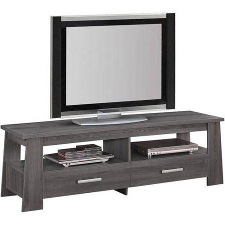 Acme Falan Dark Gray Oak Tv Stand For Flat Screen Tvs Up