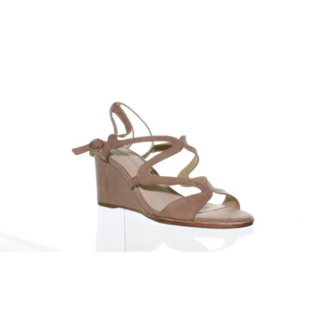Chinese Laundry Womens Radical Dark Nude Suede Ankle Strap Heels Size 7.5