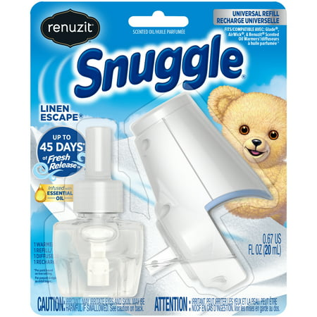 (2 pack) Renuzit Snuggle Scented Oil Refill Air Freshener and Plugin Warmer, Linen Escape, 2