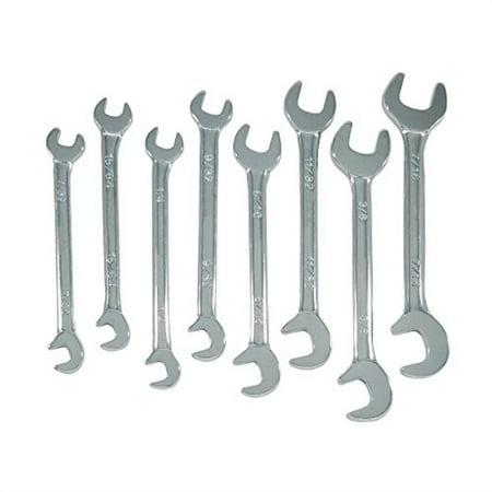 "zenith industries zn502009 sae mini double open end wrench set, 7/32""-7/16"""