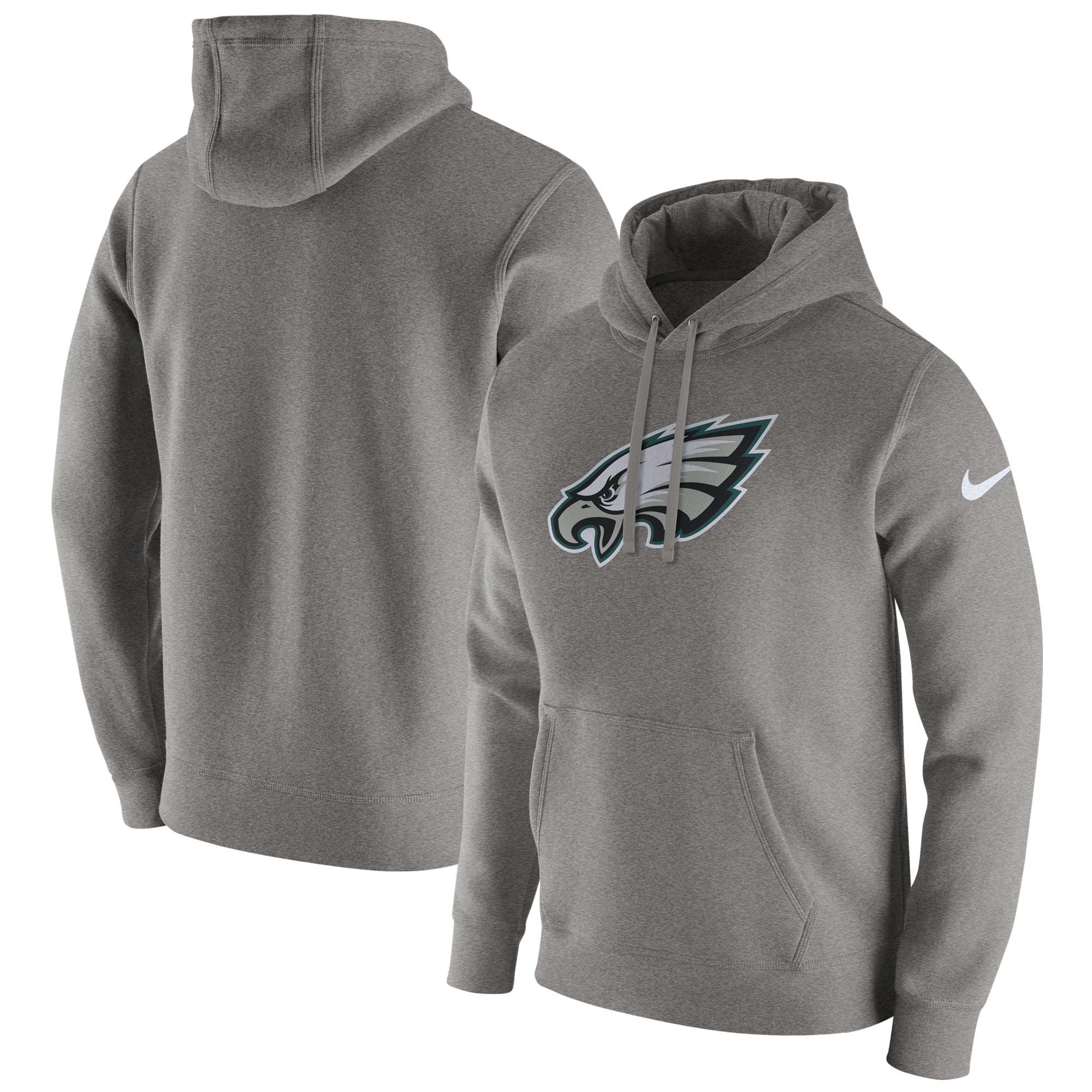 Philadelphia Eagles Nike Club Fleece Pullover Hoodie - Heathered Gray