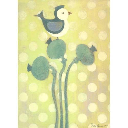 Oopsy Daisy - Love Bird - Green Canvas Wall Art 10x14, Sally Bennett