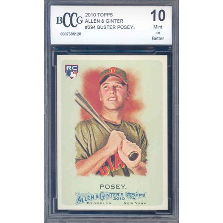 2010 topps allen & ginter #294 BUSTER POSEY rookie BGS BCCG 10