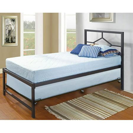 pilaster designs black metal twin size day bed daybed with metal slats designed headboard. Black Bedroom Furniture Sets. Home Design Ideas