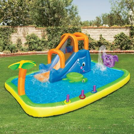 Banzai Animal Friends Splash Water Slide