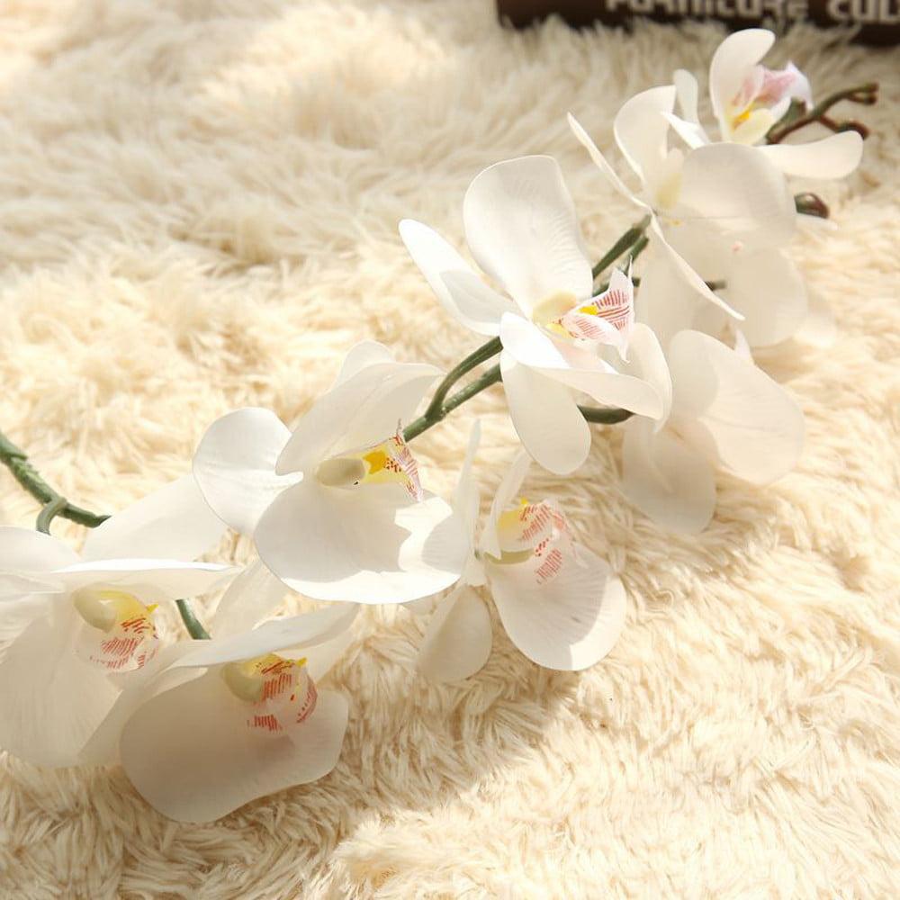 Mosunx Artificial Silk Fake Flowers Phalaenopsis Wedding Bouquet Party Home Decor White