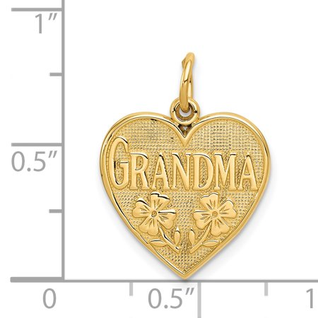 14K Yellow Gold Grandma Heart Charm - image 1 of 2