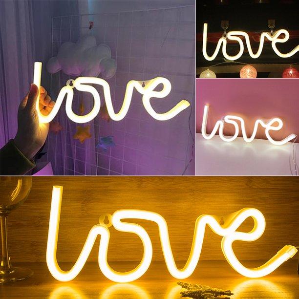 Romantic Love Shape Led Neon Light Children Bedroom Wall Decoration Light Walmart Com Walmart Com