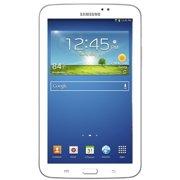 Samsung Galaxy Tab 3, 7-Inch Touchscreen Tablet 8GB Storage, 1GB RAM Memory, White, SM-T210R (Refurbished)