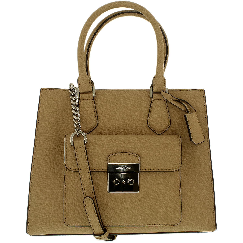 Michael Kors Women's Medium Bridgette Saffiano Leather Top-Handle Bag Tote - Bisque