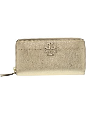66558aef76aa Free shipping. Product Image Tory Burch Women's Mcgraw Zip Continental Leather  Wallet - Gold