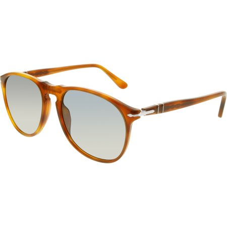 Persol Men's PO9649S-96/56-55 Brown Oval Sunglasses