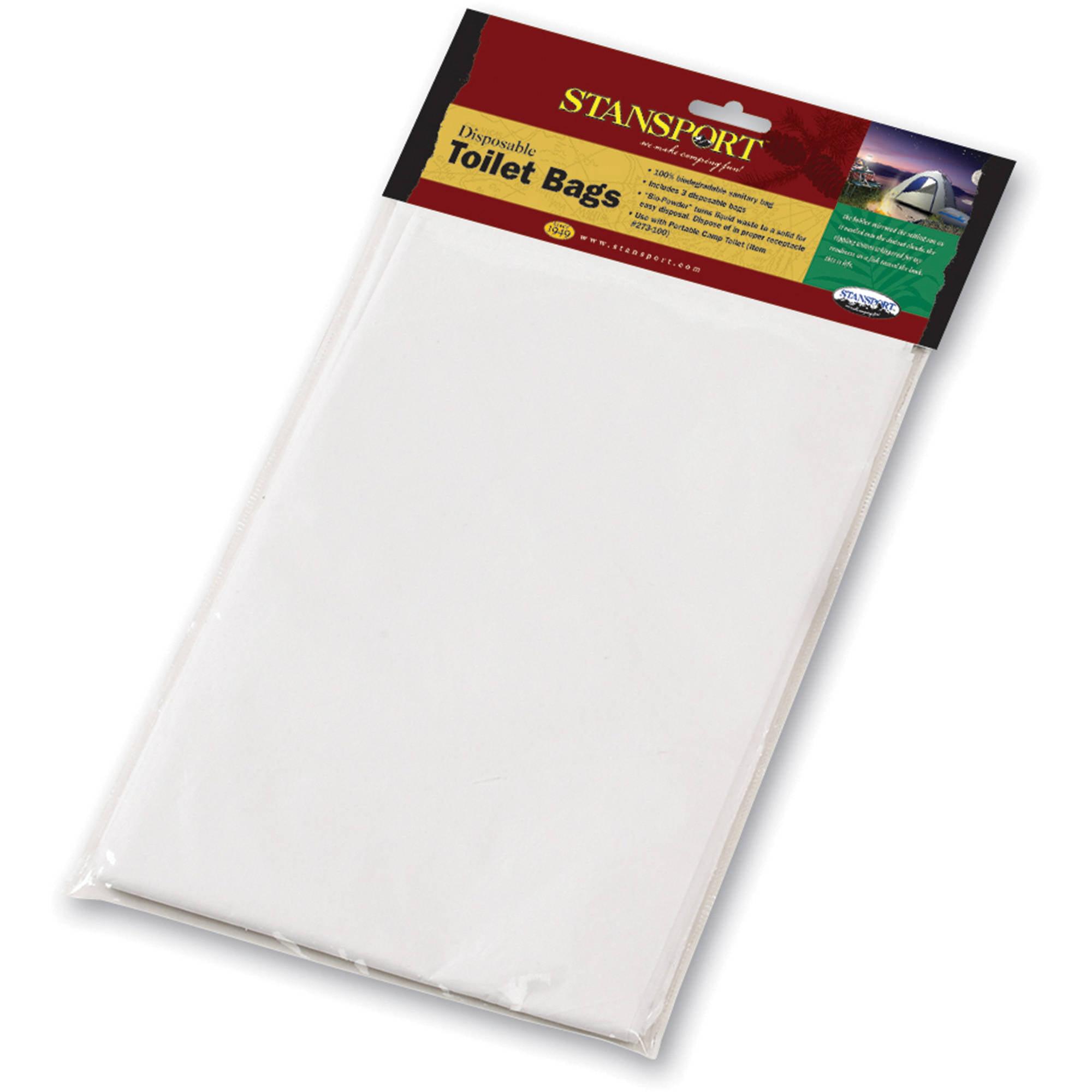 Stansport Easy-Go Portable Toilet Sanitary Bags, 3pk