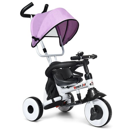 Gymax 4-In-1 Kids Baby Stroller Tricycle Detachable Learning Toy Bike - image 10 de 10