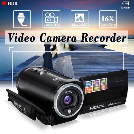 720P FULL HD Camcorder Digital Video Camera DV 2.7 TFT LCD Screen 16x Zoom 270 Degrees Rotation for Sport/Short Films Video Recording
