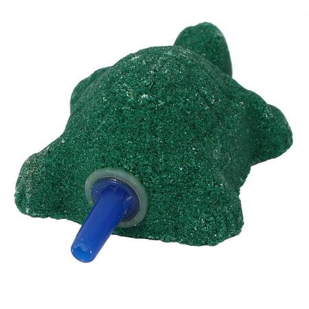 Fish Tank Aquarium Mineral Tortoise Design Bubble Air Stone Dark Green - image 2 de 3