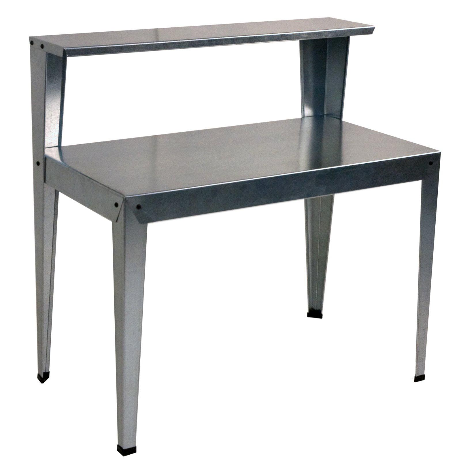 Galvanized Patio Furniture.Poly Tex 2 Tier Galvanized Steel Potting Bench