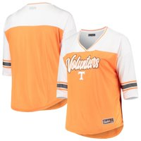Tennessee Volunteers 5th & Ocean by New Era Women's Plus Size Mesh 3/4-Sleeve T-Shirt - Tennessee Orange