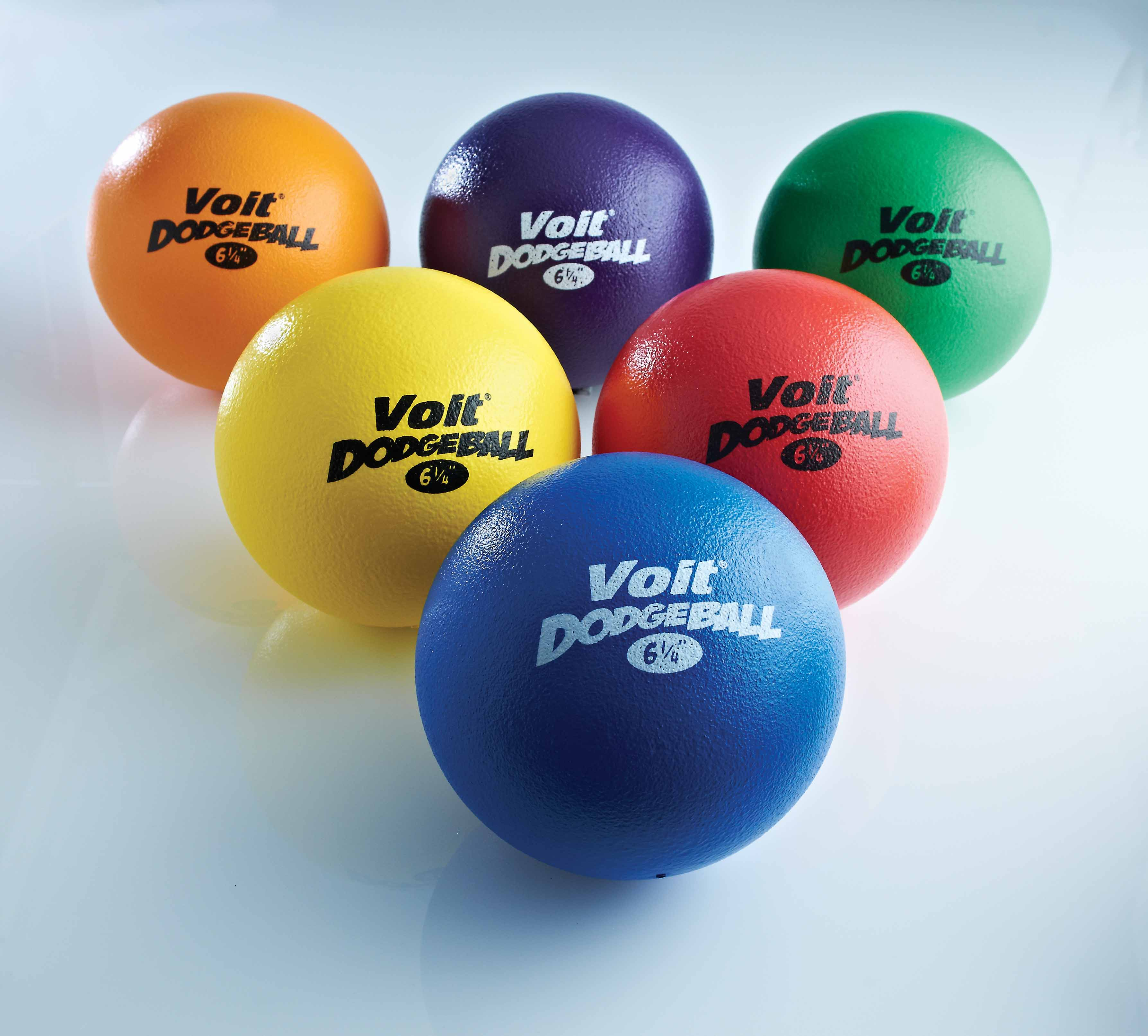 Voit® Tuff 6.25 in. Dodgeball - Prism Pack of 6