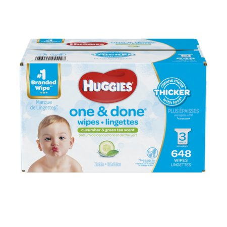 HUGGIES One & Done Baby Wipes (Choose Your Count) Huggies Baby Wash