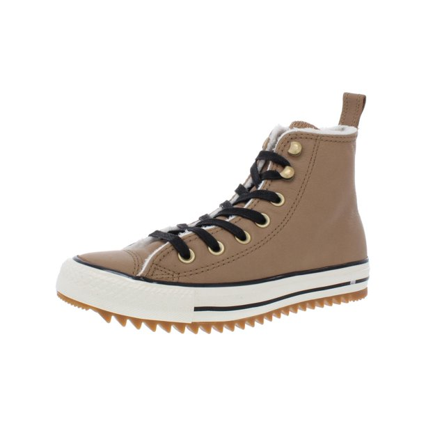 Converse Converse Chuck Taylor All Star Leather Faux Fur High Top Sneakers Walmart Com Walmart Com