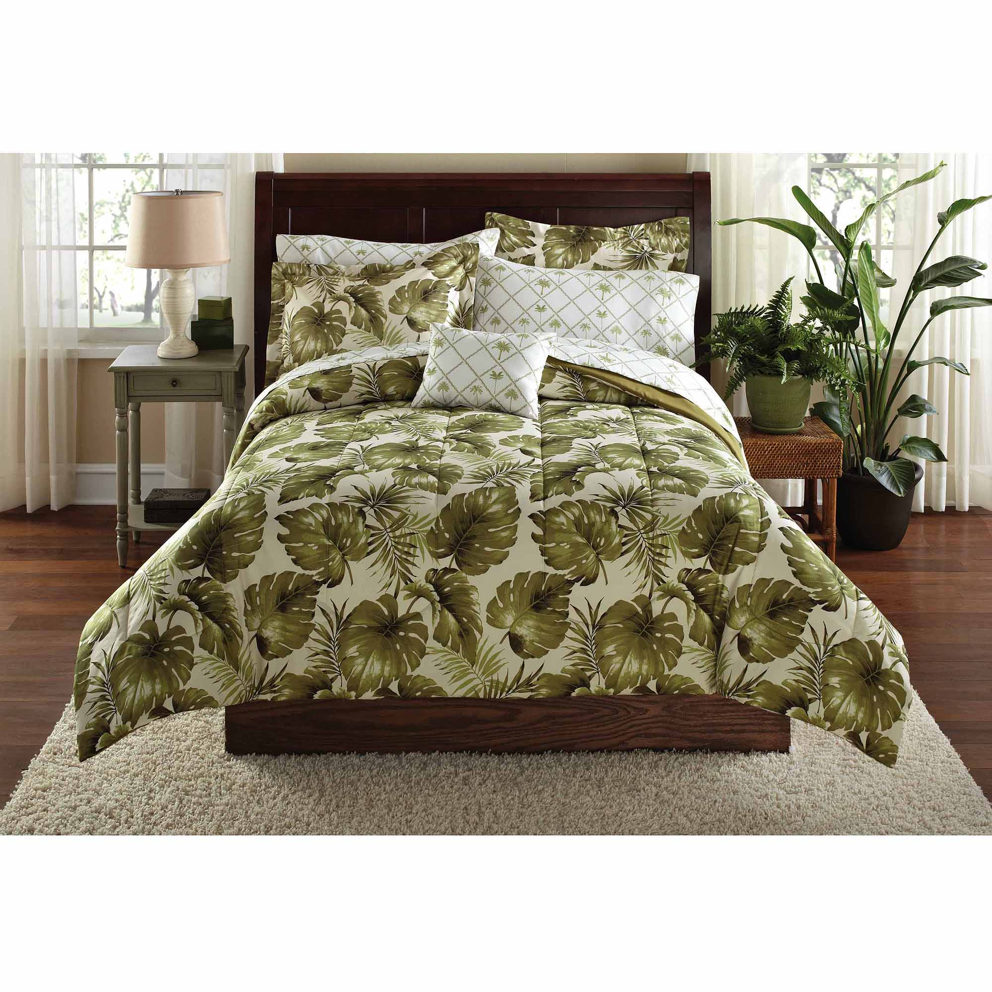 Mainstays Palm Grove Bed in a Bag Coordinated Bedding Set
