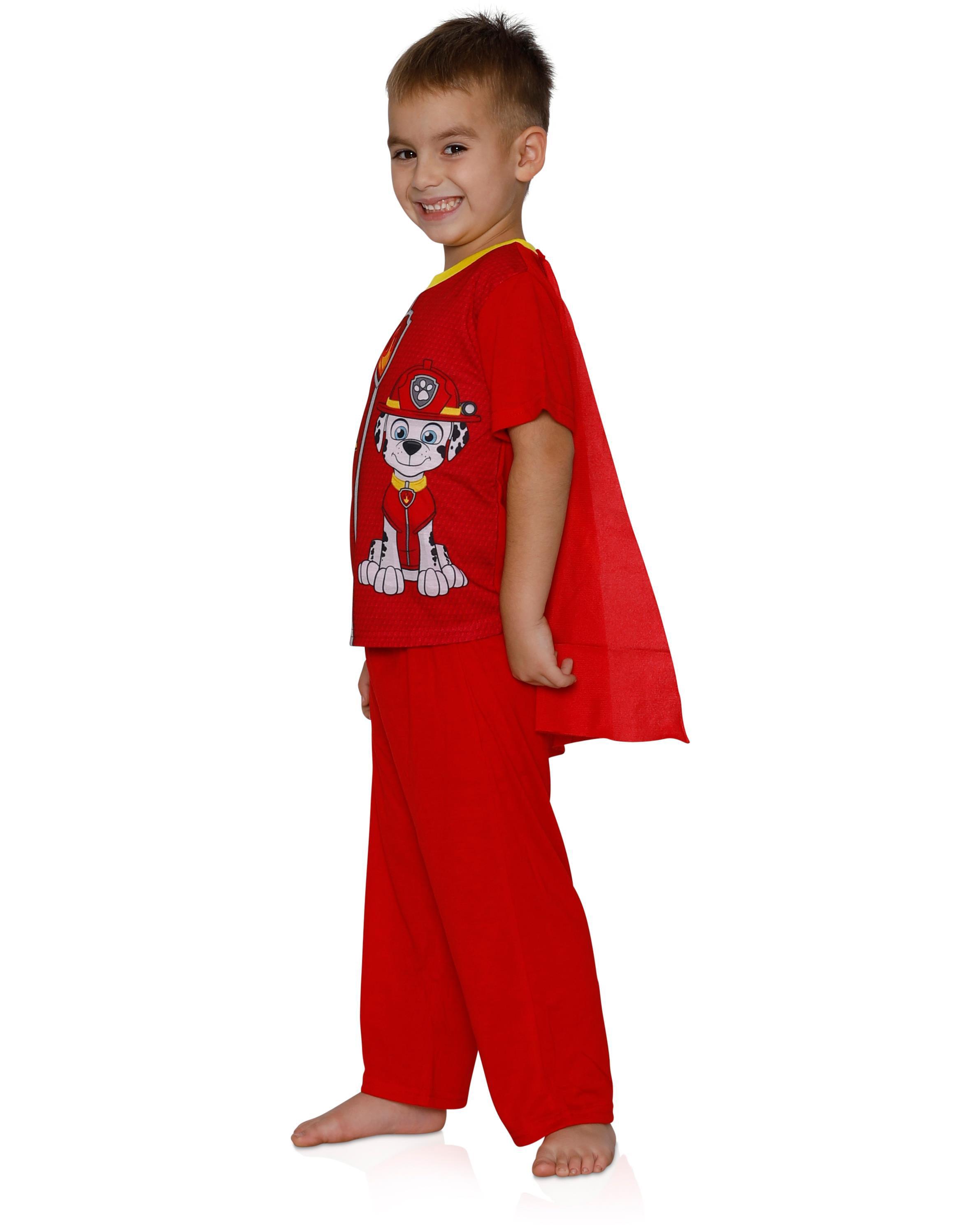 Paw Patrol Boys Marshall 2-Piece Uniform Set with Cape Pajama Set
