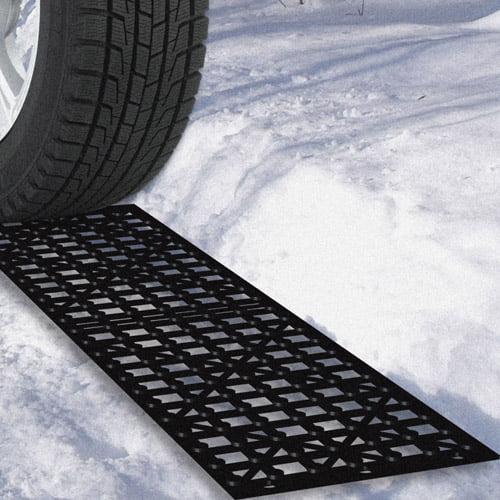 Stalwart Car Tire Snow Grabber Mats, 2 Pieces