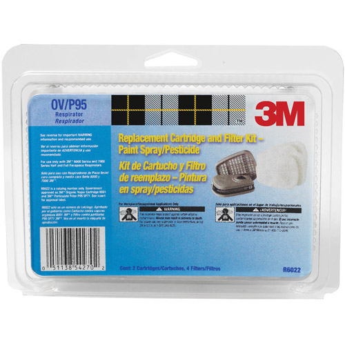 3m 6022PA1-A Organic Vapor Cartridge and Filter