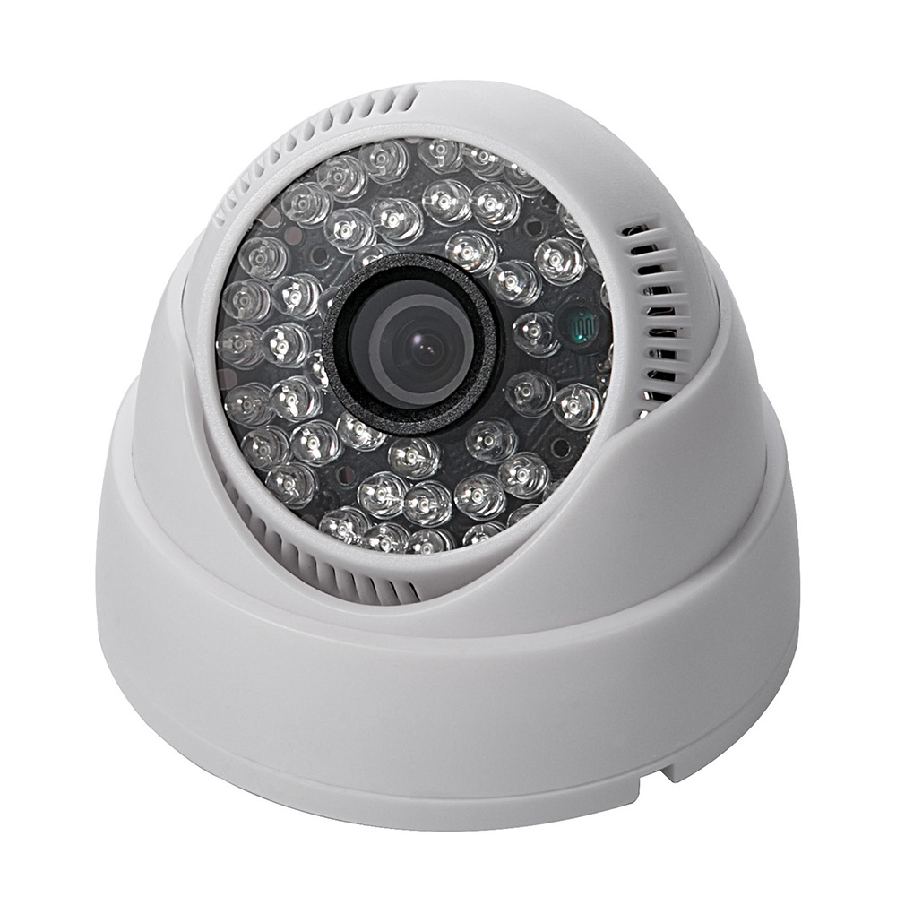 New 1100TVL CMOS Security Camera 48LED IR Color Indoor 3.6mm Dome CCTV