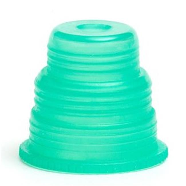 Bio Plas 8365 Hexa-Flex Safety Caps for 10mm, 12mm, 13mm, 16mm, 18mm Tubes 500 pk - Green