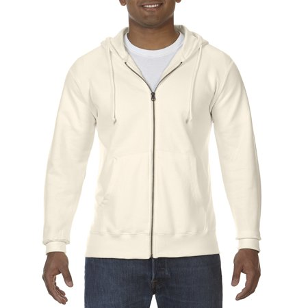 A Product of Comfort Colors Adult Full-Zip Hooded Sweatshirt - IVORY - XL [Saving and Discount on bulk, Code - Bulk Sweatshirts
