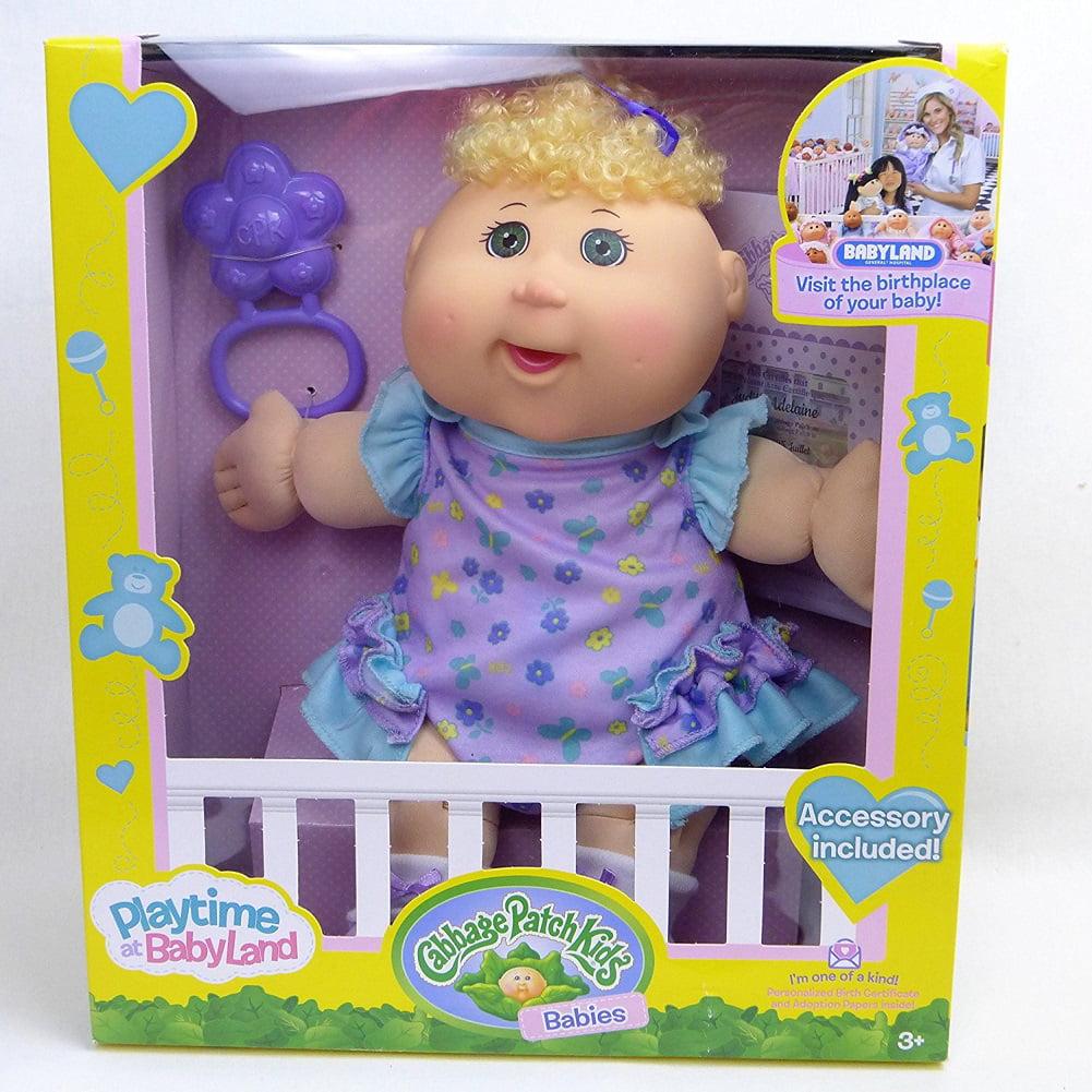 Cabbage Patch Kids Babies Playtime at Babyland Blonde Curly Hair -  Walmart.com - Walmart.com
