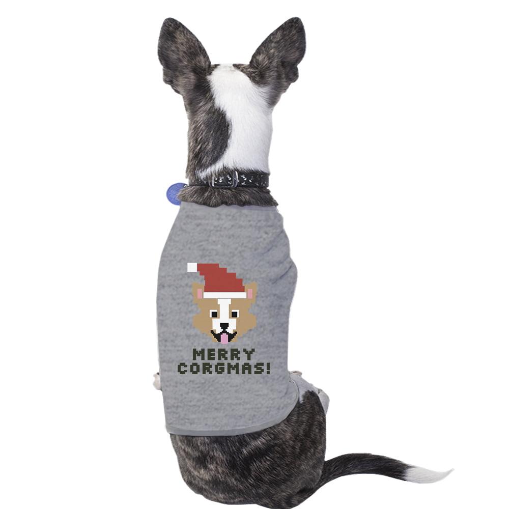 Merry Corgmas Corgi Pet Shirt Grey Cotton Christmas Dog Owner Gift